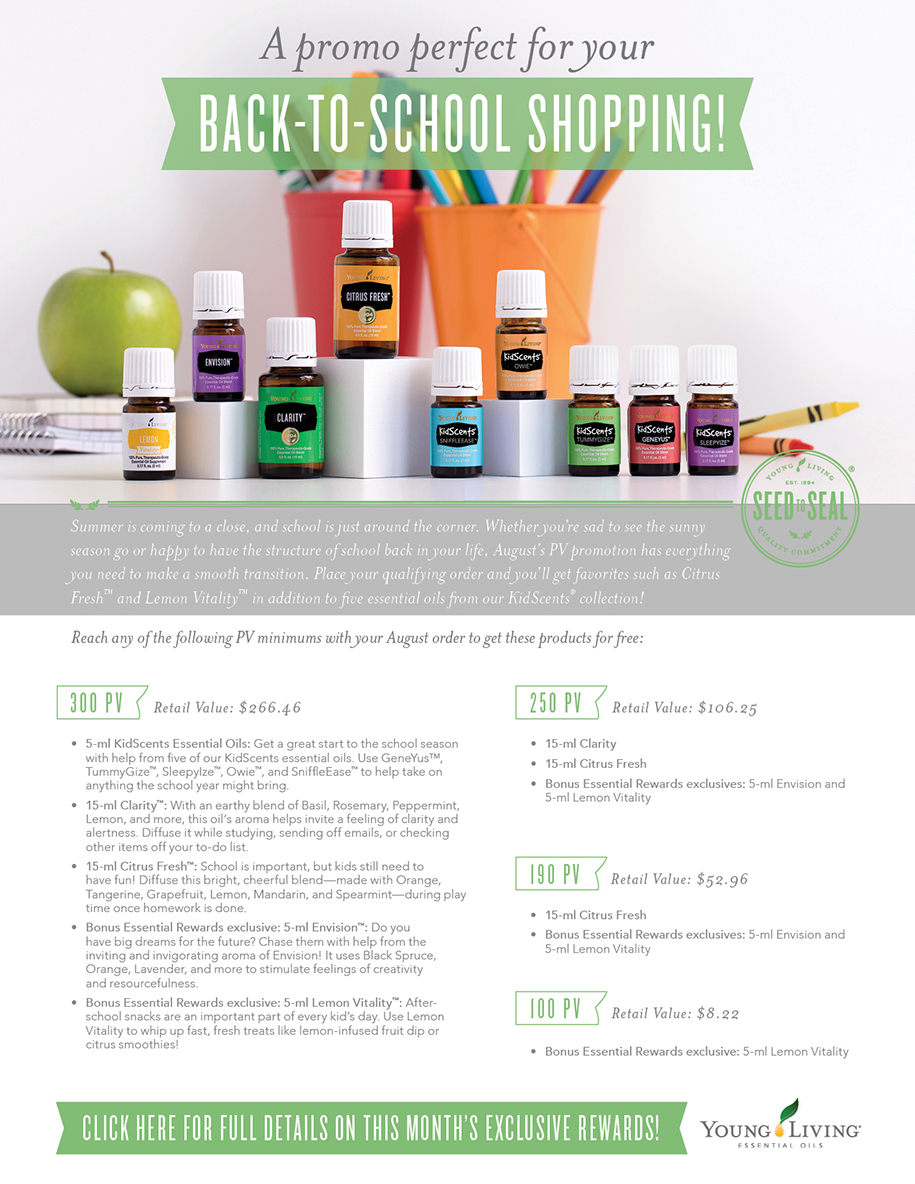 Young Living August 2017 promo