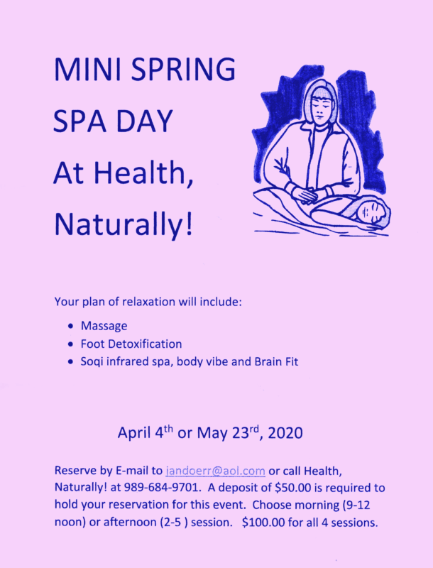 Mini Spring Spa Day Flyer