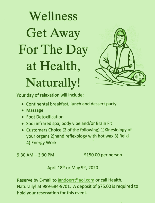 Wellness Getaway Flyer